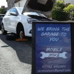 A one of a kind image of us providing mobile mechanic services