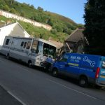 A picture of the mobile mike the mechanic van servicing a camper van