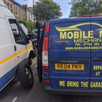 A picture of our mobile mike mechanic van